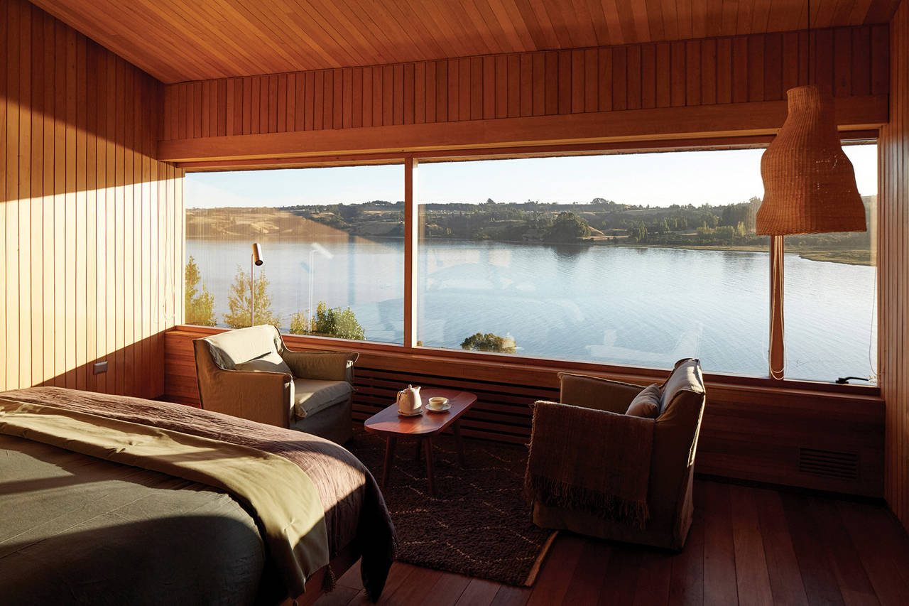 View from the rooms in Tierra Chiloé in Chile