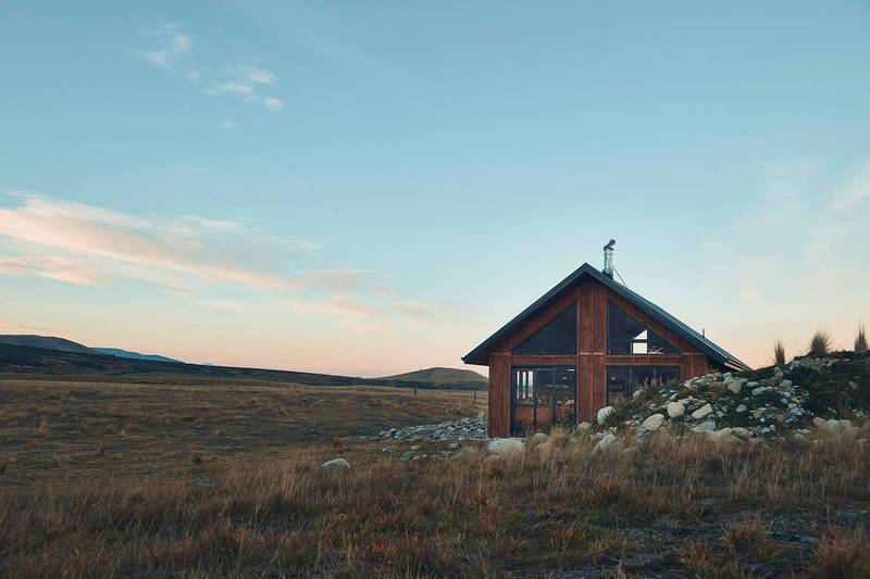 Sunset at the High country cabin