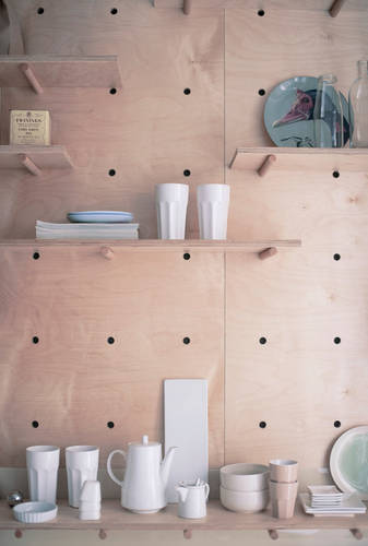 Smart shelving to keep everything close at hand