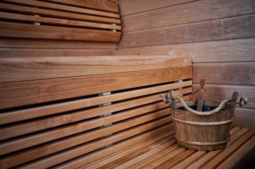 The hotel comes with a sauna as well