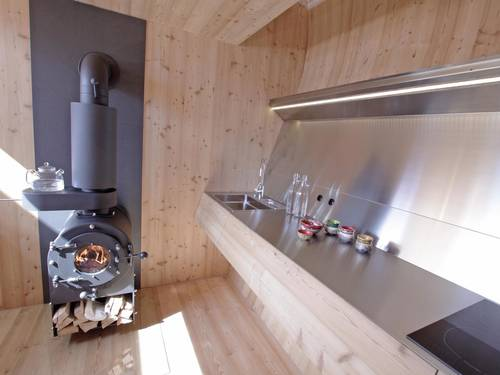 The kitchen and wood burner oven