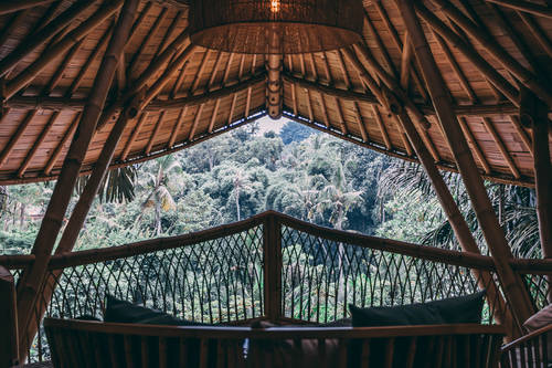 Cosy spot to relax and watch over the Bali treetops