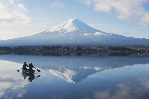You can rent little paddle boats and explore Lake Kawaguchi