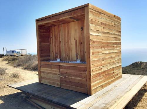 The outdoor bathroom