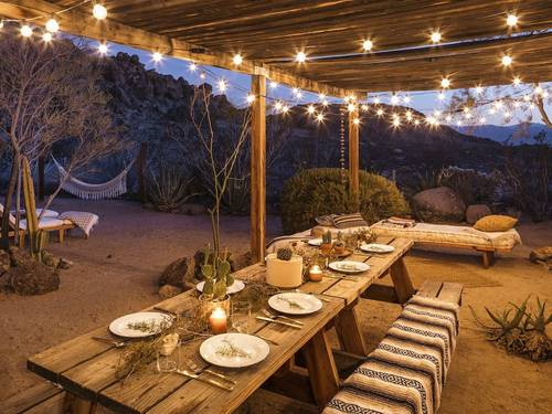 Host a small dinner party at the Casita