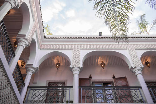 The Riad still retains traditional designs