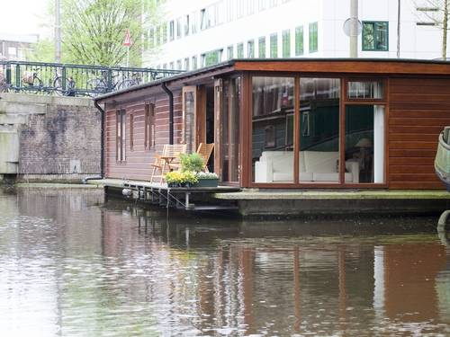 The houseboat on the canal