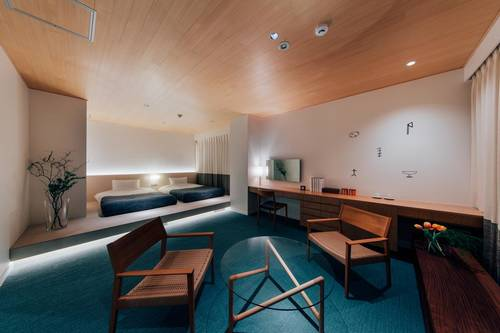 One of the Japanese style rooms at Hotel Graphy Nezu