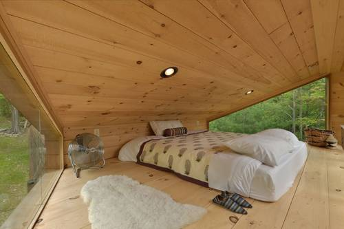 The loft style bedroom