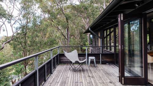 The large deck set amongst the treetops