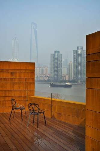 Rooftop views of the city of Shanghai