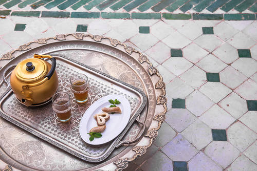 Afternoon tea in the Riad
