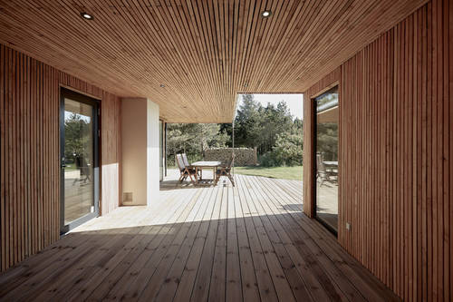 The stunning timber covered walk-way