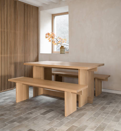 The handcrafted dining table