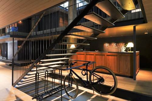 Bicycle storage in the hotel