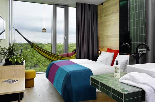 This room comes with a hammock and stunning views
