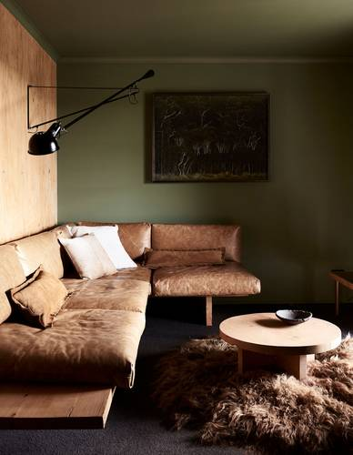 The cosy lounge room